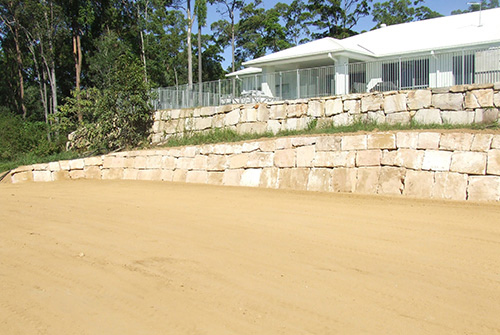 Landscaping Boulders Brisbane : B grade sandstone retaining wall brisbane precision