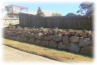 Rock Retaining Walls for Garden Beds